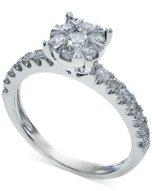 Effy Collection - Certified Diamond Ring In 14k White Gold (3/4 Ct. T.w.) - Lyst