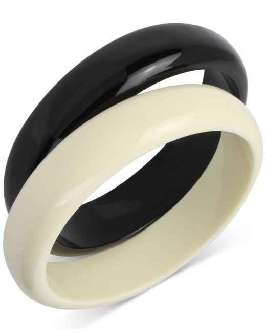 INC International Concepts   Black 2-pc. Set Colorblock Acrylic Bangle Bracelets   Lyst