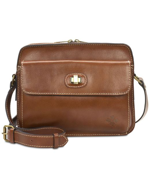 Patricia Nash | Brown Maxela Lock Small Crossbody | Lyst
