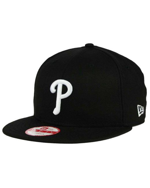 KTZ - Black Philadelphia Phillies B-dub 9fifty Snapback Cap for Men - Lyst