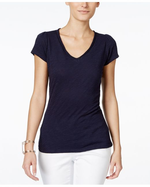 INC International Concepts   Blue V-neck T-shirt, Only At Macy's   Lyst