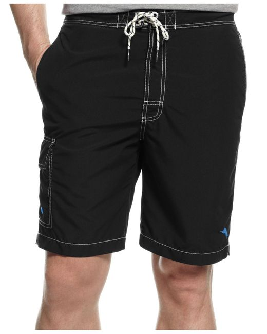 Tommy Bahama | Black Baja Poolside Swim Trunks for Men | Lyst