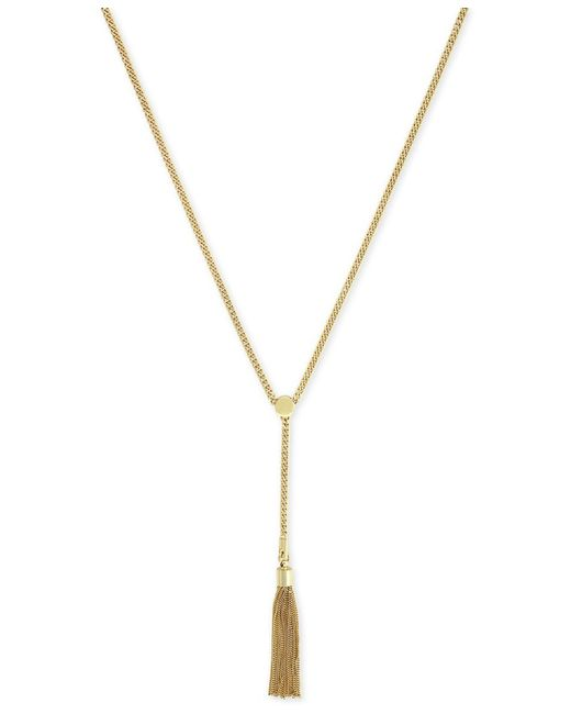 Vince Camuto | Metallic Gold-tone Tassel Y-necklace | Lyst