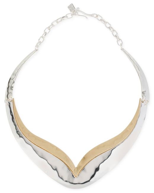 Robert Lee Morris | Metallic Two-tone Sculptured Necklace | Lyst