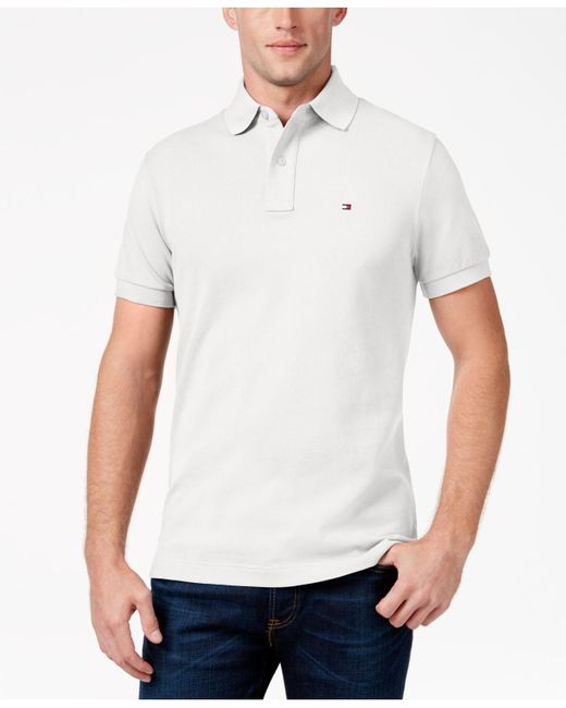 Tommy Hilfiger - White Custom-fit Ivy Polo, Created For Macy's for Men - Lyst