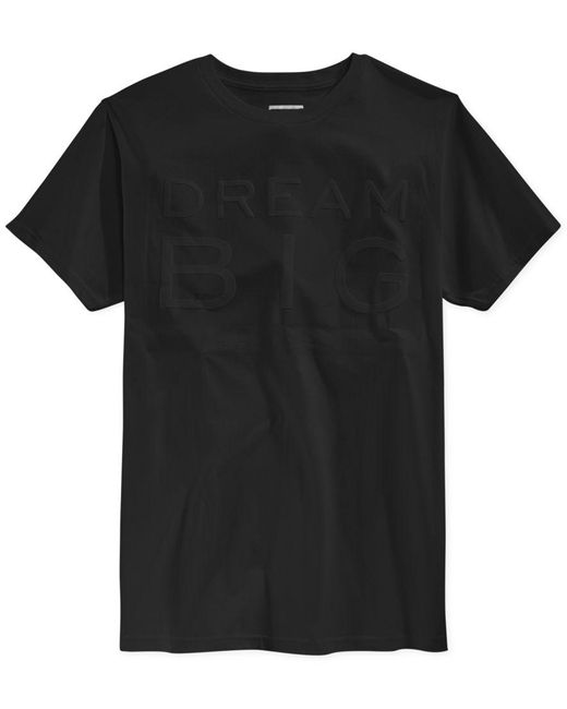 Sean John | Black Men's Dream Big Embossed T-shirt for Men | Lyst