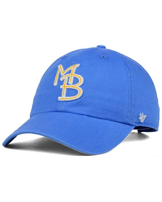 47 Brand | Blue Myrtle Beach Pelicans Clean Up Cap for Men | Lyst