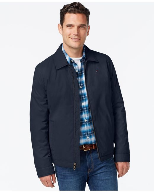 Tommy Hilfiger | Blue Full-zip Micro-twill Jacket for Men | Lyst