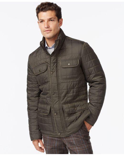 Tommy Hilfiger   Green Four-pocket Quilted Jacket for Men   Lyst