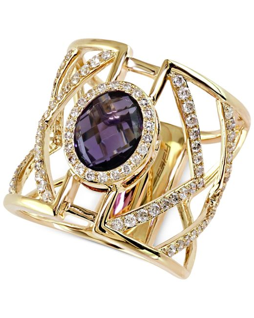 Effy Collection | Purple Diamond (5/8 Ct. T.w.) And Amethyst Ring (2-7/8 Ct. T.w.) In 14k Gold | Lyst