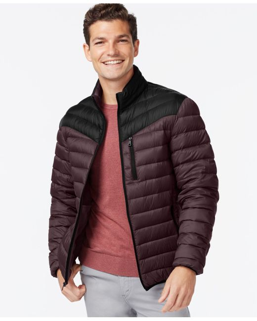INC International Concepts | Purple Color-blocked Down Packable Jacket for Men | Lyst