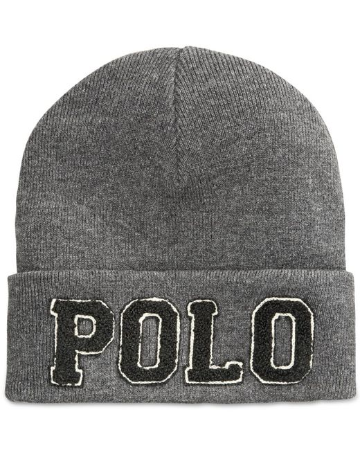 Polo Ralph Lauren | Gray Polo Cotton Hat for Men | Lyst