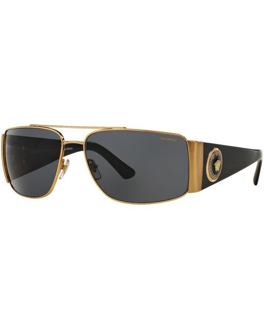 Versace | Metallic Sunglasses, Ve2163 63 for Men | Lyst