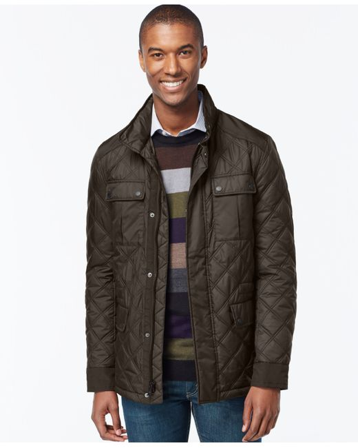 Michael Kors | Green Quilted Filed Coat for Men | Lyst