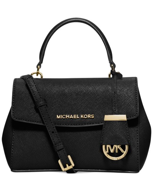 Michael Kors | Black Ava Mini Crossbody | Lyst