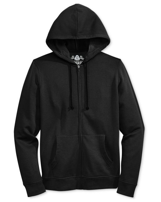 American Rag | Black Men's Full-zip Fleece Hoodie, Only At Macy's for Men | Lyst