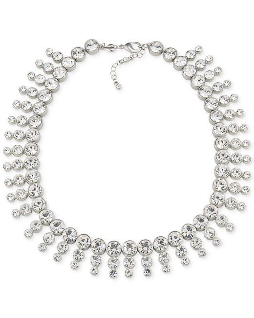 Carolee | Metallic Silver-tone Collar Necklace | Lyst