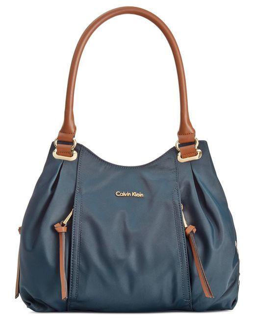 Calvin Klein | Blue Dressy Nylon Shopper | Lyst