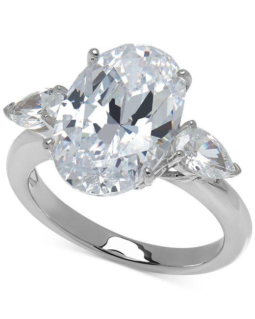 Arabella | Metallic Swarovski Zirconia Statement Ring In Sterling Silver | Lyst