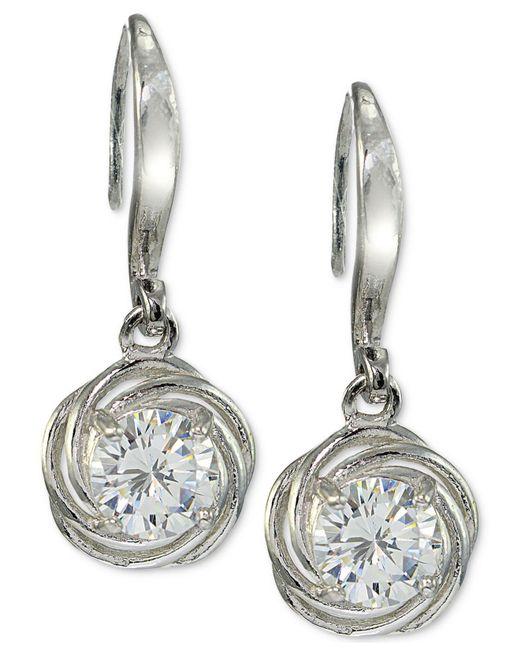 Giani Bernini Metallic Cubic Zirconia Drop Earrings In Sterling Silver Created For Macy S