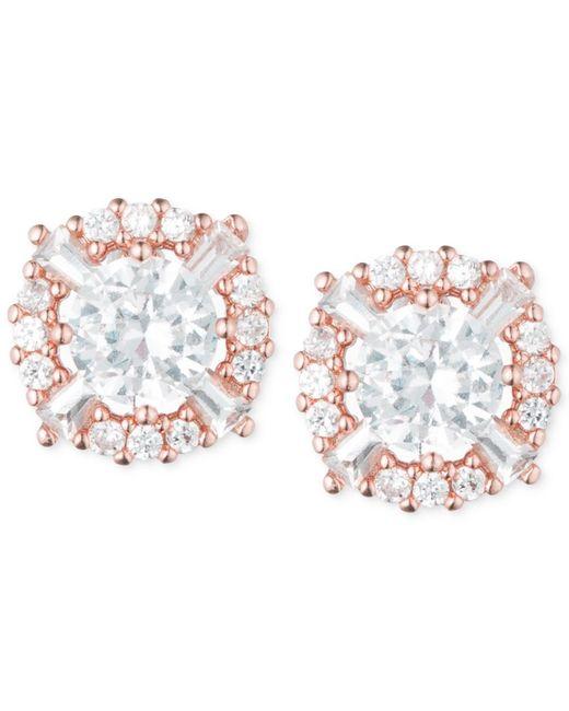 Anne Klein | Metallic Elevated Crystal Round Stud Earrings | Lyst