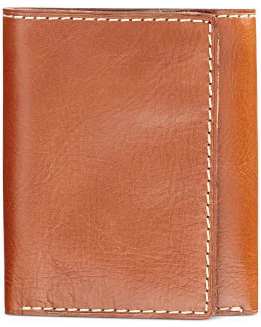 Patricia Nash | Brown Nash By Men's Heritage Leather Trifold Wallet | Lyst