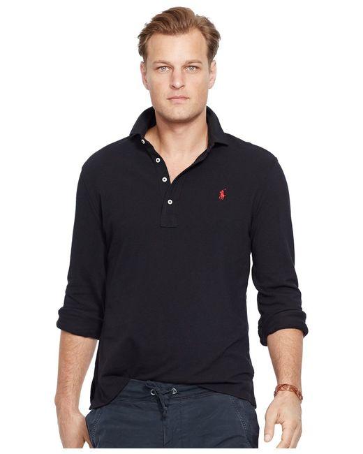 Polo Ralph Lauren | Black Classic Fit Cotton Mesh Polo for Men | Lyst