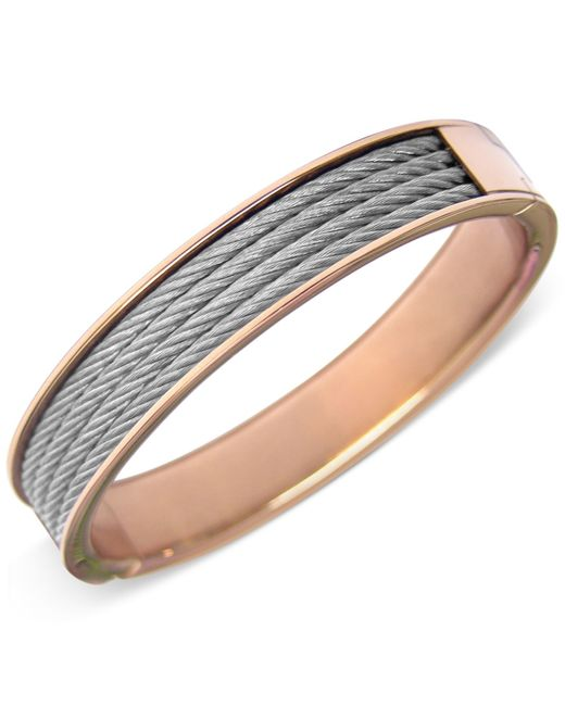 Charriol | Metallic Two-tone Cable Bangle Bracelet | Lyst