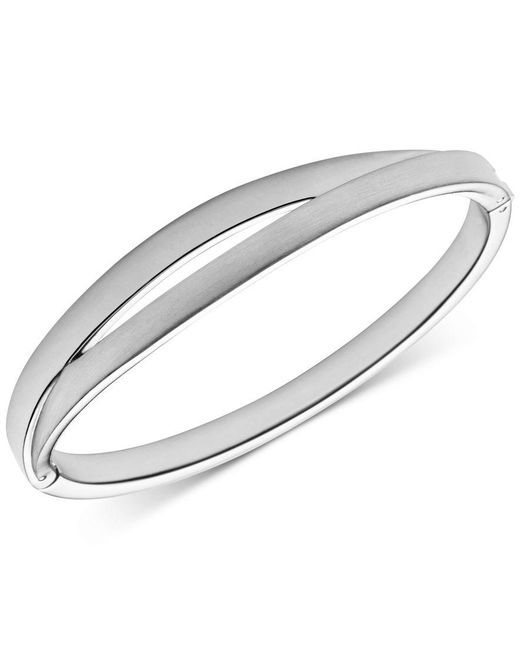 Skagen | Metallic Elin Siver-tone Hinged Bangle Bracelet | Lyst
