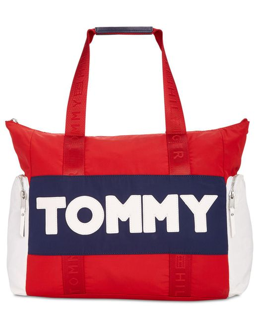 Tommy Hilfiger - Red Tommy Tote - Lyst
