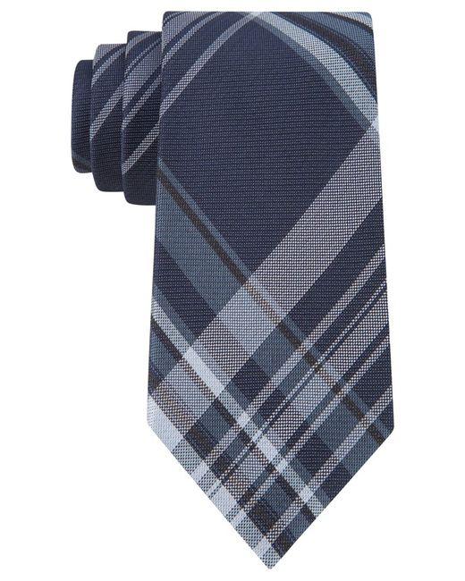 Calvin Klein | Blue University Plaid Slim Tie for Men | Lyst