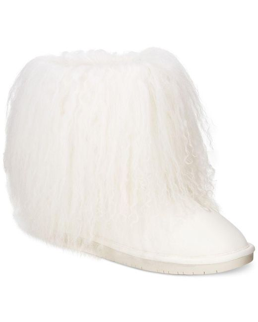 BEARPAW | White Boo Cold Weather Booties | Lyst