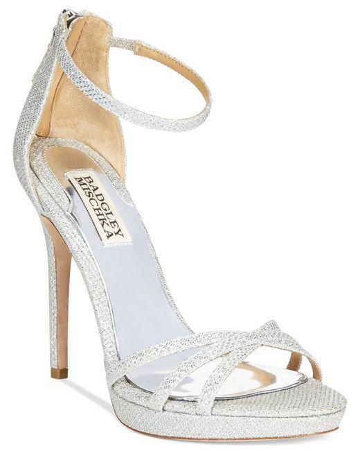 Badgley Mischka | Metallic Signify Evening Sandals | Lyst