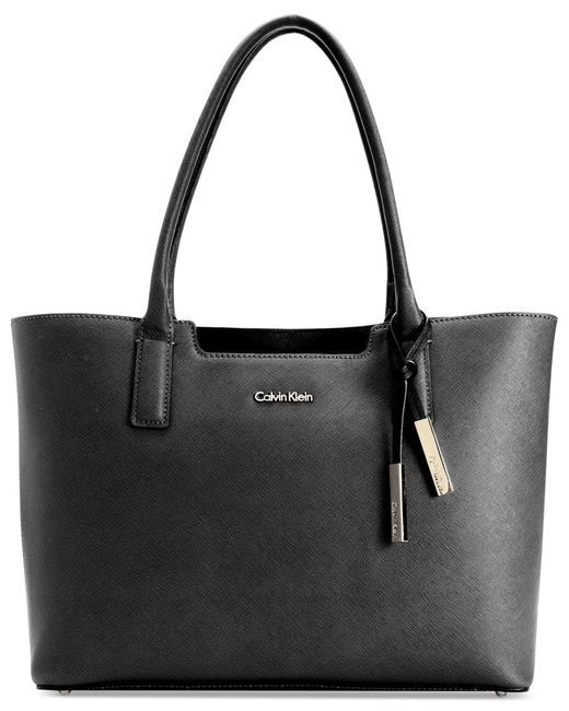 Calvin Klein | Black Saffiano Leather Tote | Lyst