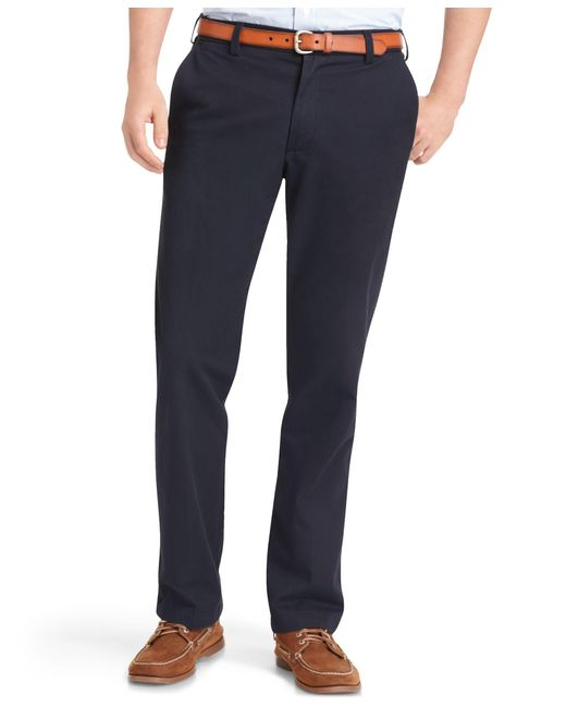 Izod | Blue Madison Slim-fit No-iron Flat Front Chino Pants for Men | Lyst