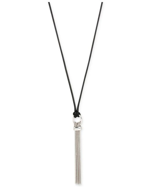 Kenneth Cole | Metallic Silver-tone Tassel Adjustable Pendant Necklace | Lyst