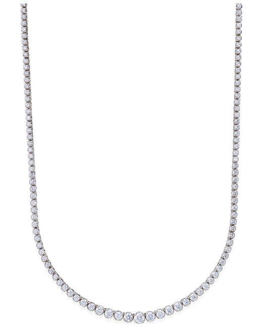 Macy's | Diamond Riviera Chain Necklace In 14k White Gold (10 Ct. T.w.) | Lyst