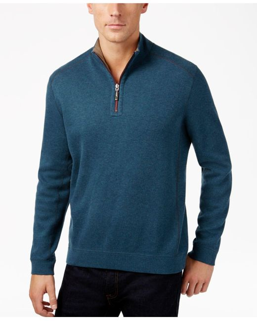 Tommy Bahama | Red Flip Side Reversible Mock-collar Sweater for Men | Lyst