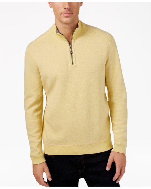 Tommy Bahama   Red Flip Side Reversible Mock-collar Sweater for Men   Lyst