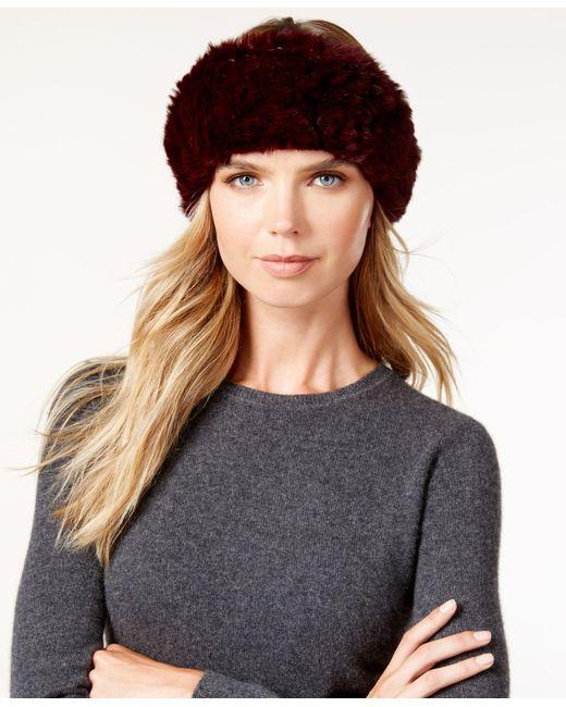 Surell | Purple Stretchy Sheared Rabbit Fur Headband Neckwarmer | Lyst