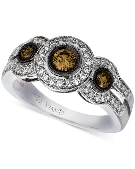 Le Vian | Metallic Diamond Ring (3/4 Ct. T.w.) In 14k White Gold | Lyst