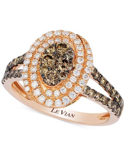 Le Vian | Metallic Diamond Framed Cluster Ring (1 Ct. T.w.) In 14k Rose | Lyst