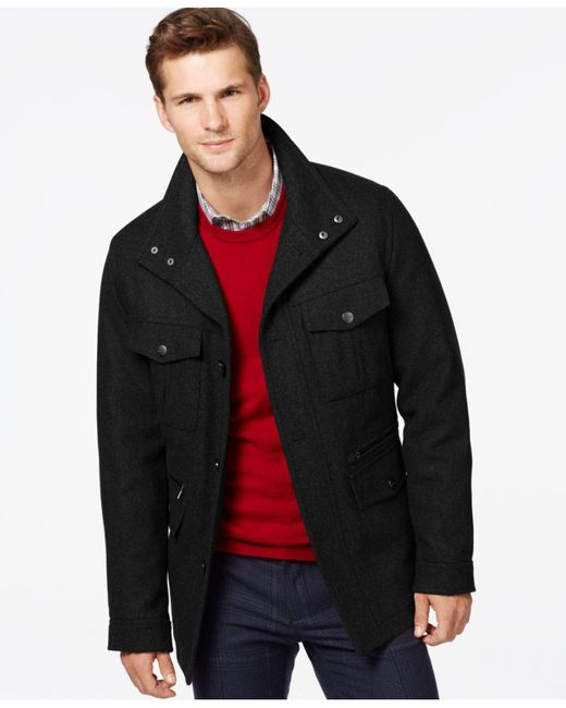 Michael Kors | Black Wool-blend Field Coat for Men | Lyst
