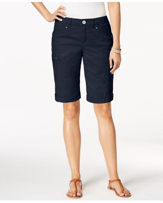 Style & Co.   Blue Cargo Shorts, Only At Macy's   Lyst