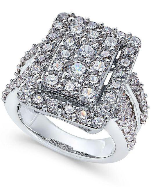 Macys Mens Wedding Rings: Macy's Diamond Square Cluster Engagement Ring (4 Ct. T..w