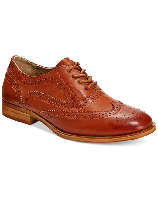 Wanted | Brown Babe Lace-Up Oxford Shoes | Lyst