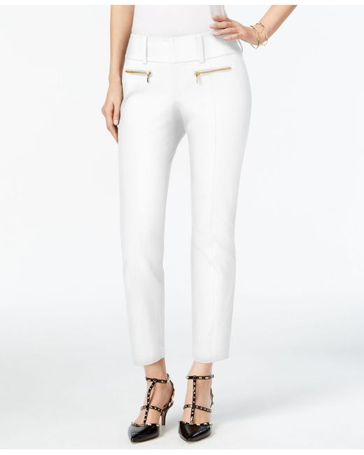 INC International Concepts | White Curvy-fit Cropped Pants, Only At Macy's | Lyst