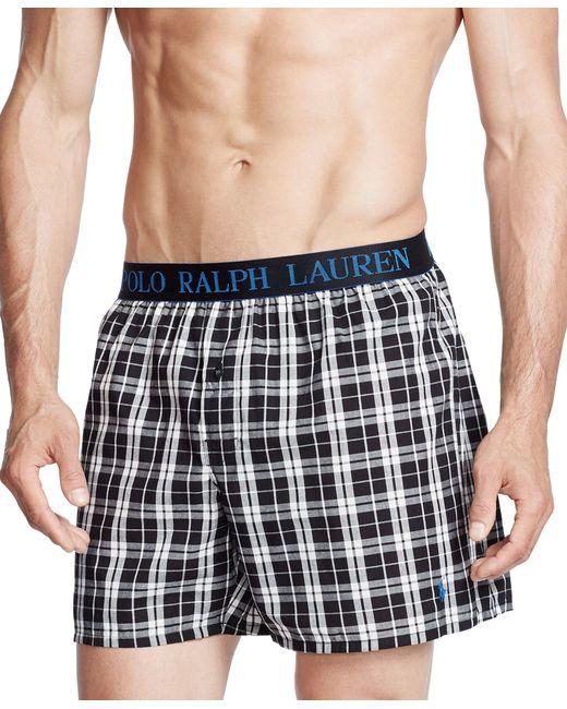 Polo Ralph Lauren   Black Printed Woven Boxers for Men   Lyst