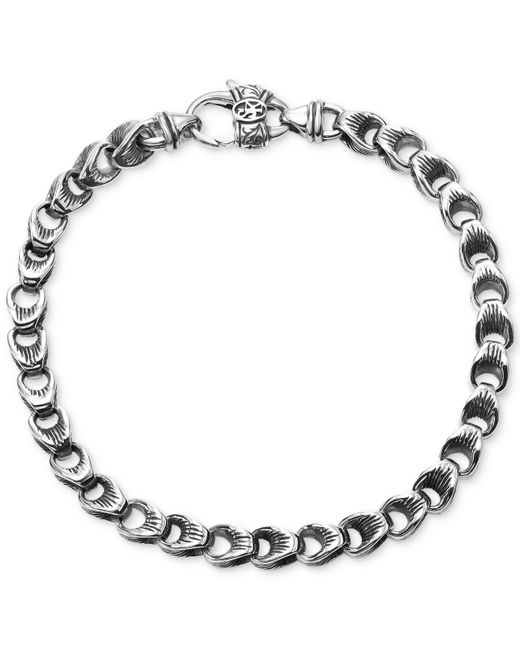 Scott Kay - Metallic Men's Textured Link Bracelet In Sterling Silver for Men - Lyst