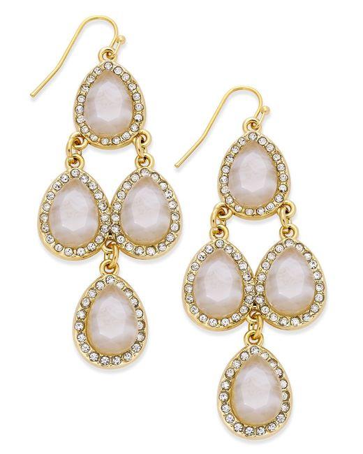 INC International Concepts | Metallic Teardrop Chandelier Earrings, Only At Macy's | Lyst